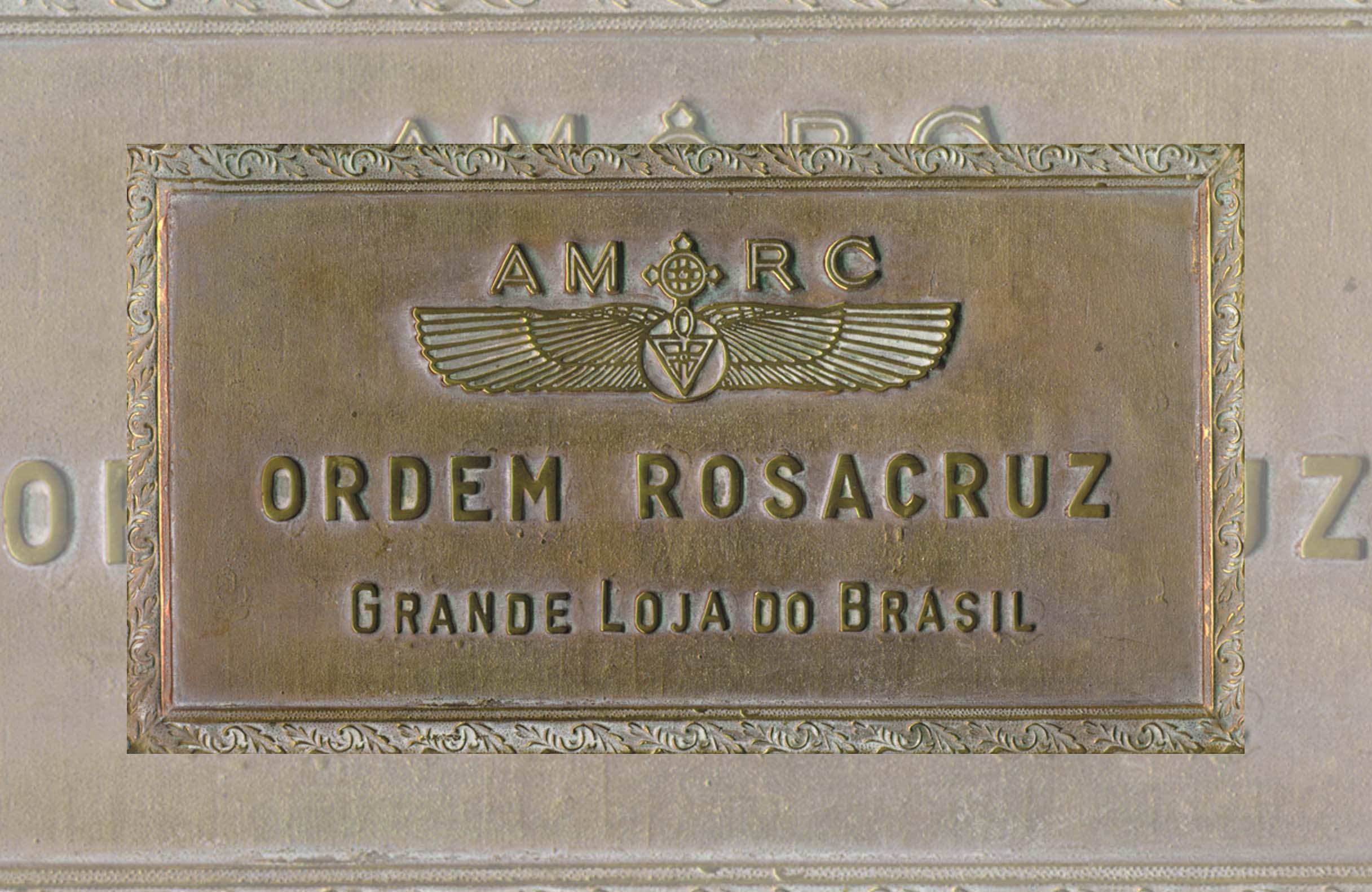 Placa de identificação - Grande Loja do Brasil