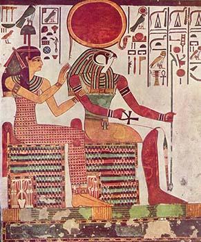 Ra e Amentet - Tumba da rainha Nefertari